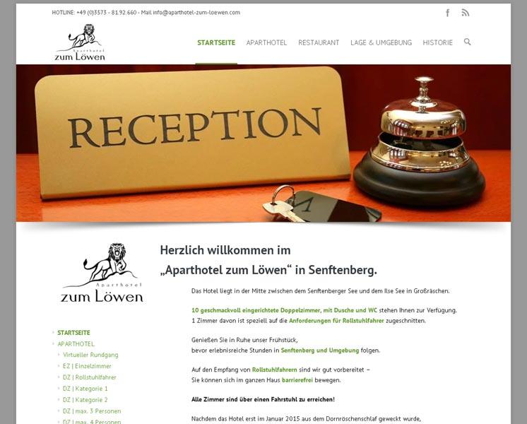 APARTHOTEL ZUM LÖWEN<br />> Layout, Programmierung Online-Booking-System<br />www.aparthotel-zum-loewen.com