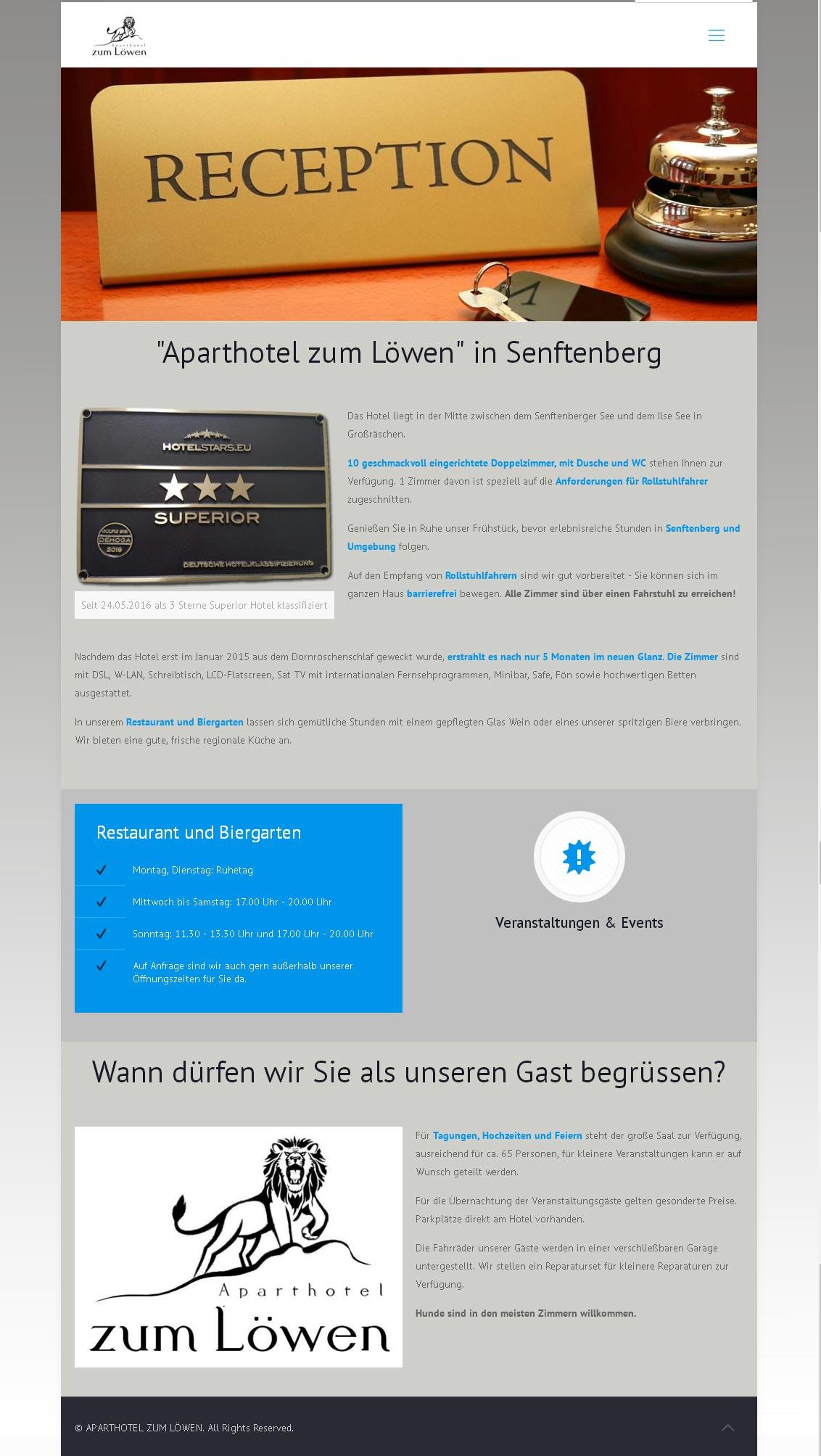 Aparthotel zum Löwen<br /> Entwicklung der CI, Grafik & Layout für Online<br />www.aparthotel-zum-loewen.com