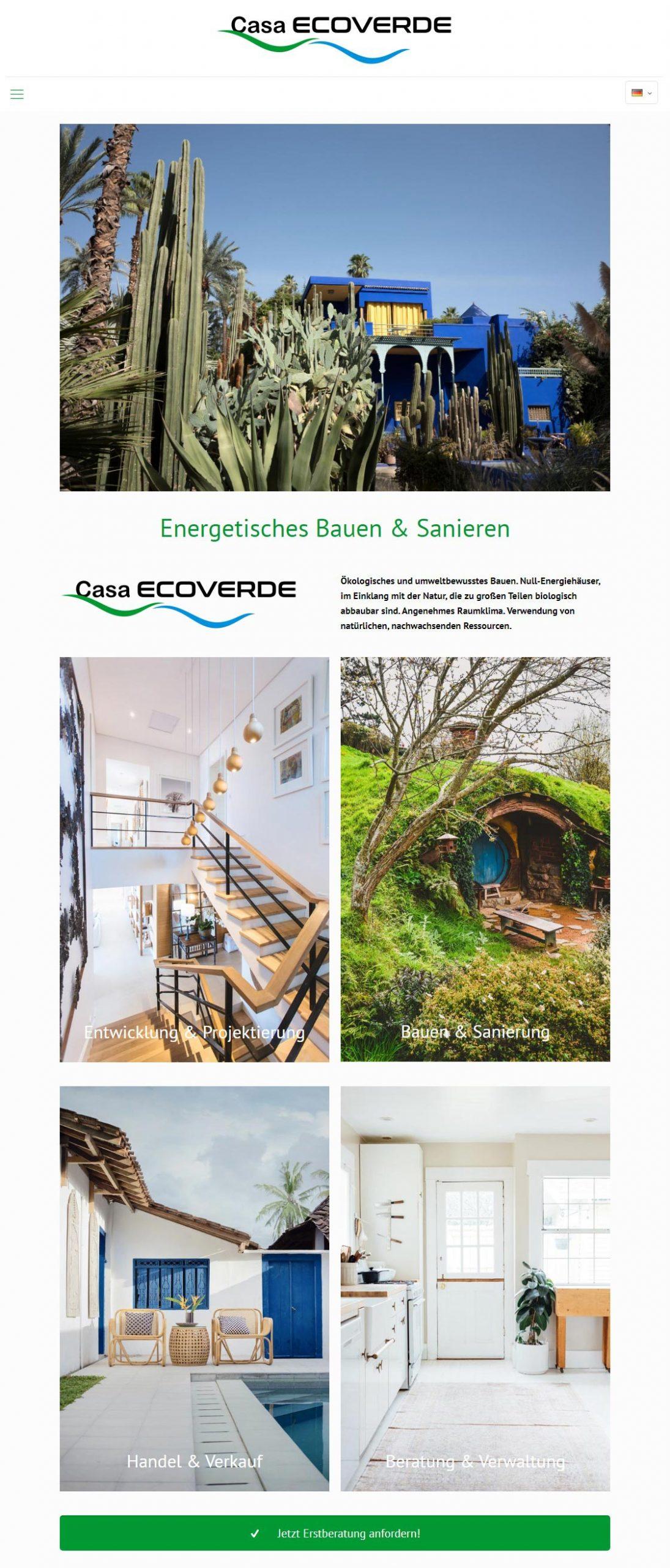 Casa Ecoverde<br />Entwicklung der CI, Grafik & Layout für Online<br />www.casa-ecoverde.com