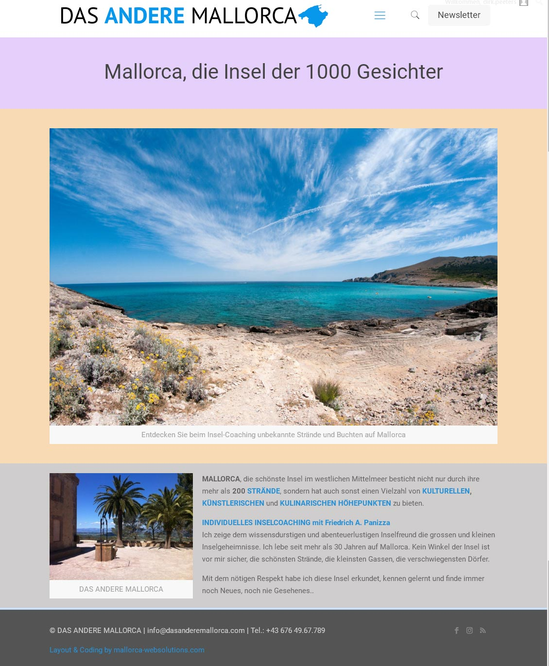 Das Andere Mallorca<br />Entwicklung der CI, Grafik & Layout für Online<br />www.dasanderemallorca.com