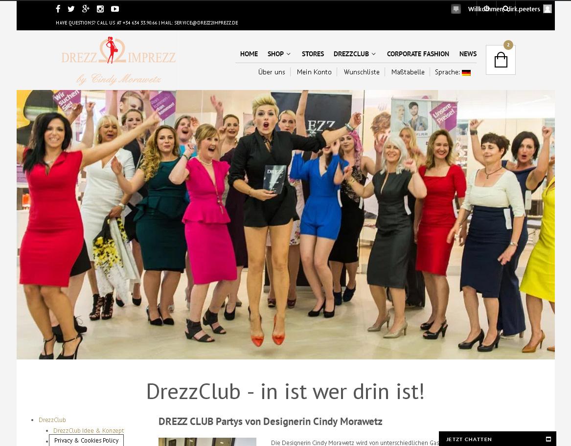 DrezzClub<br /> Programmierung, Grafik, Layout: Website<br /> www.drezzclub.com