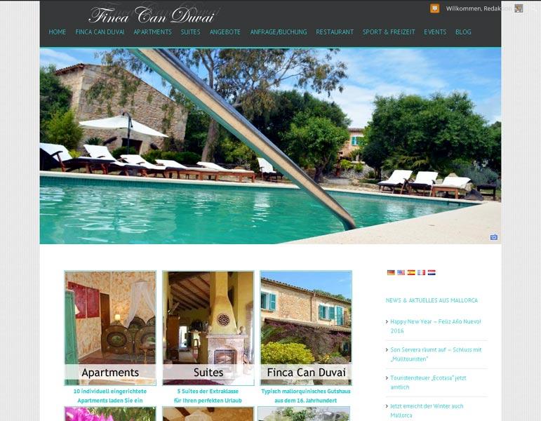 Finca Can Duvai<br /> Erstellung / Gestaltung > Website<br />www.finca-canduvai.com