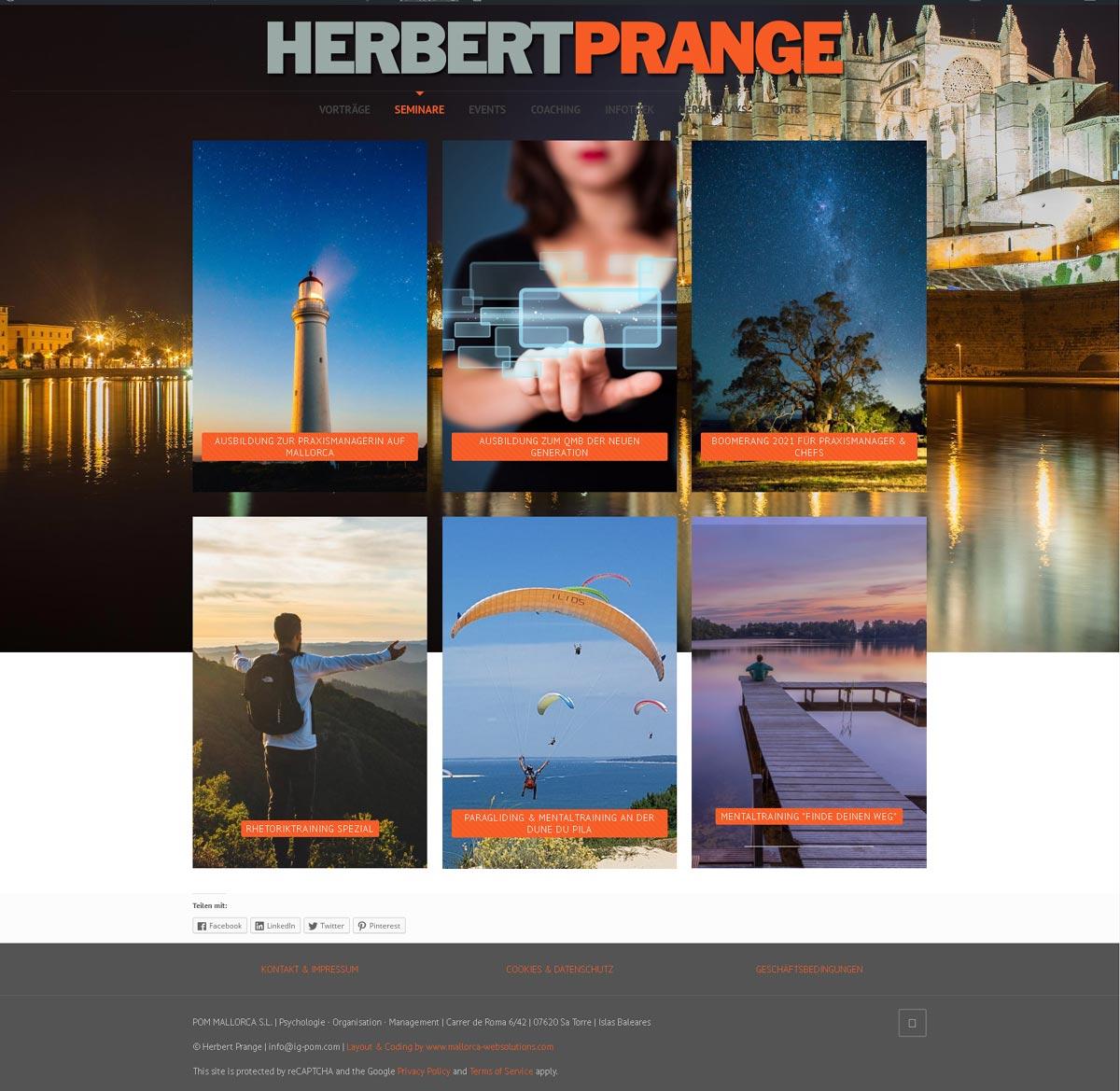 Herbert Prange<br />Entwicklung der CI, Grafik & Layout für Online<br />www.herbertprange.com