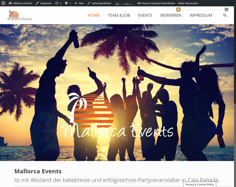 Mallorca Events<br />Programmierung, Grafik, Layout: Website<br />www.mallorcaevents.net