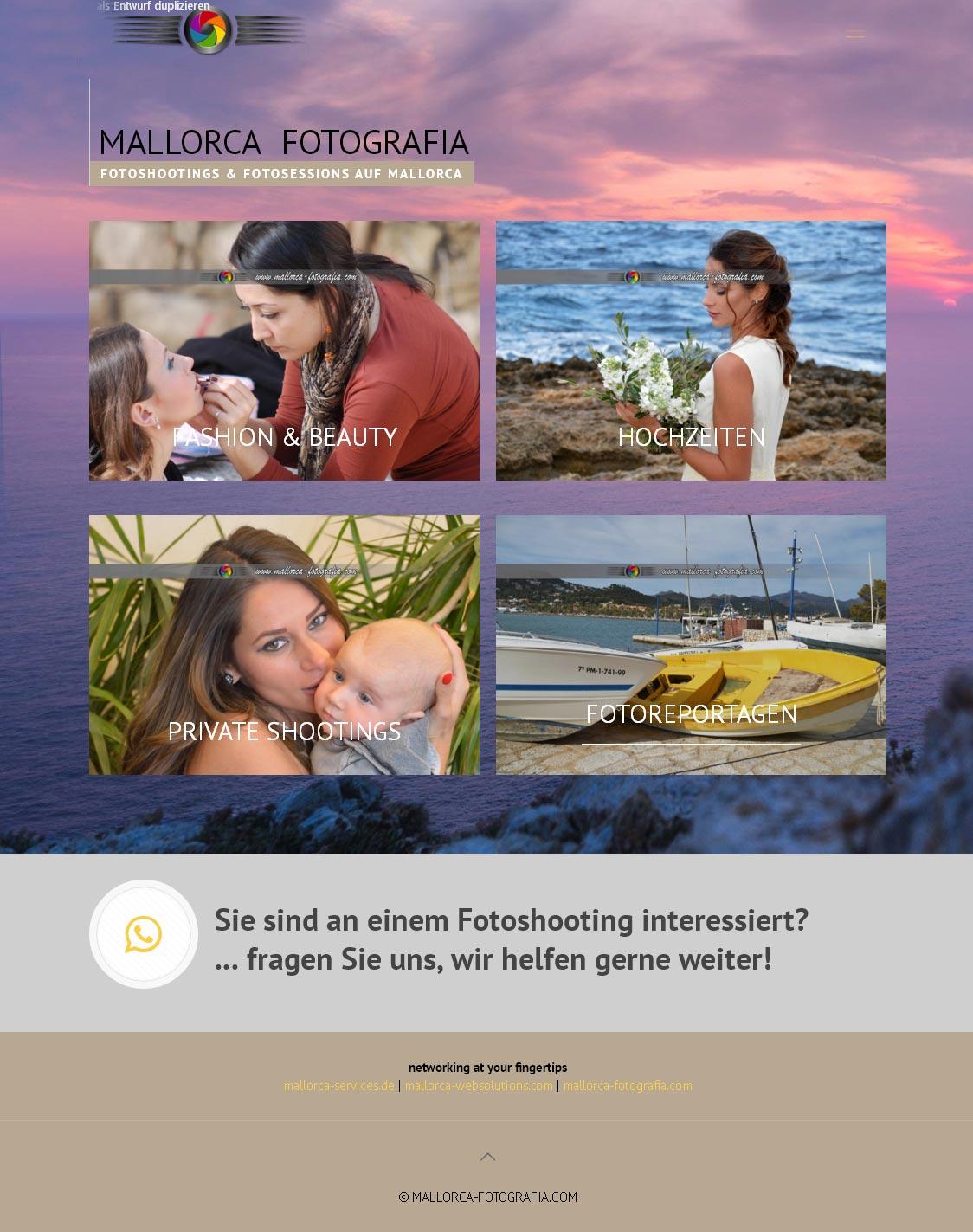 mallorca-fotografia.com<br /> Entwicklung der CI, Grafik & Layout für Online<br />www.mallorca-fotografia.com