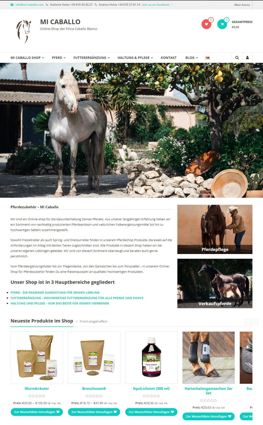 Mi-Caballo.com<br />Entwicklung der CI, Grafik & Layout für Online<br />www.mi-caballo.com