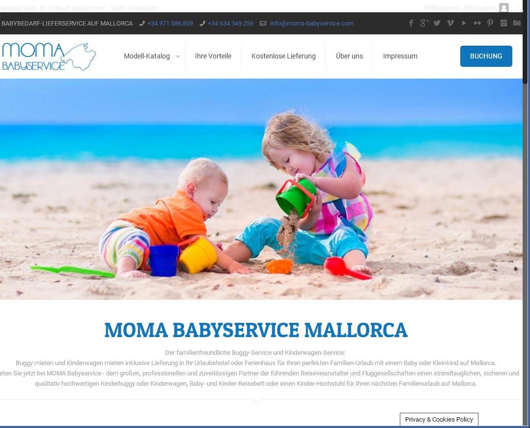 MOMA BABYSERVICE<br />Entwicklung der CI, Grafik & Layout für Online<br />www.moma-babyservice.com