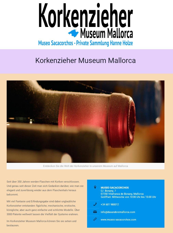 Museo Sacacorchos<br />Entwicklung der CI, Grafik & Layout für Online<br />www.museo-sacacorchos.com