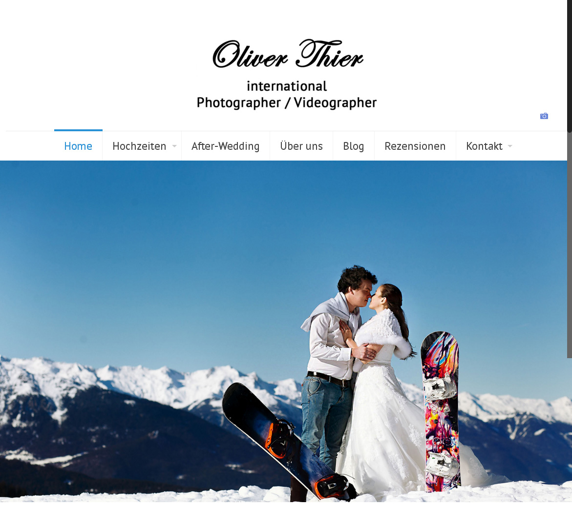 Oliver Thier Photography<br /> Programmierung, Grafik, Layout: Website<br /> www.fotograf-zugspitze.de