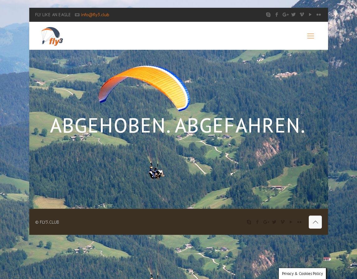 Fly3<br /> Entwicklung der CI, Grafik & Layout für Online<br />www.fly3.club
