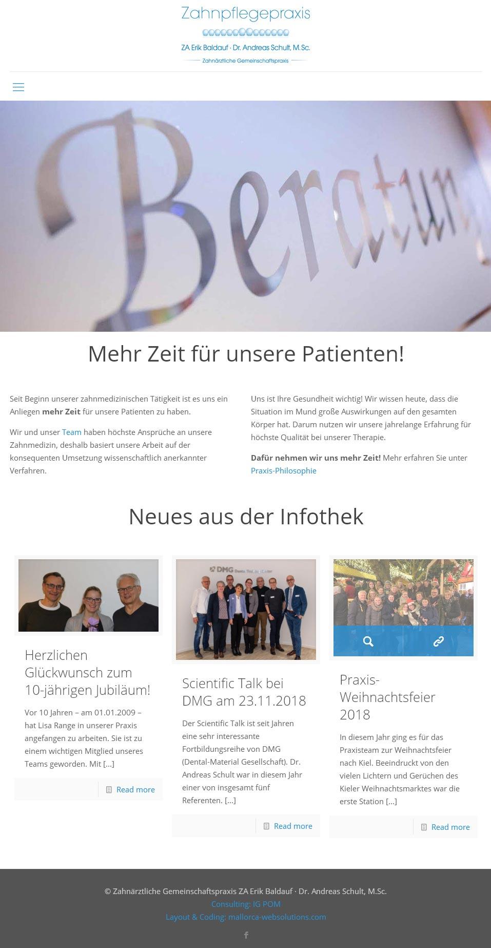 ZA Baldauf / Schult<br /> Entwicklung der CI, Grafik & Layout für Online<br />www.zahnaerzte-bad-bramstedt.com