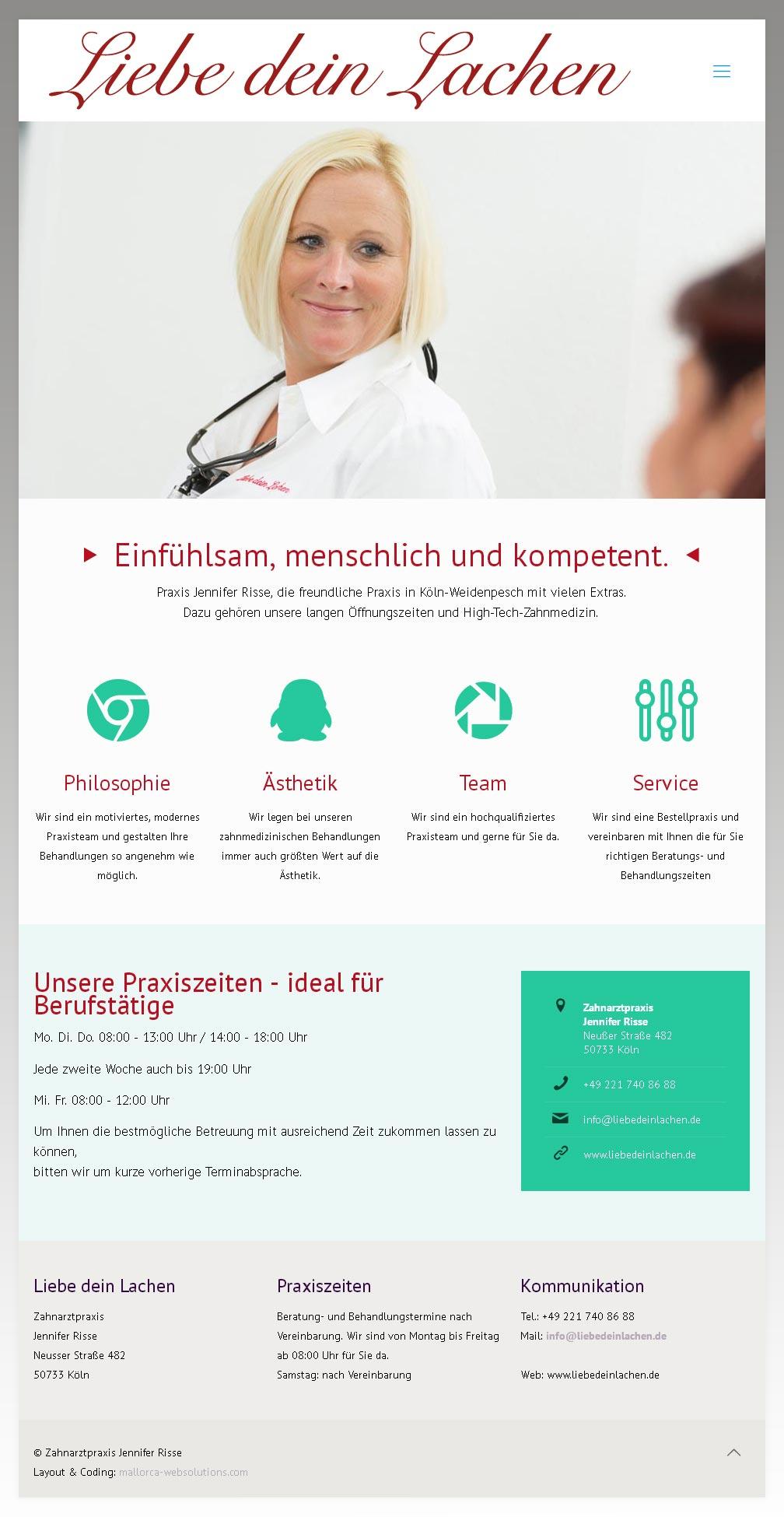 ZA Jennifer Risse<br /> Entwicklung der CI, Grafik & Layout für Online<br />www.liebedeinlachen.de