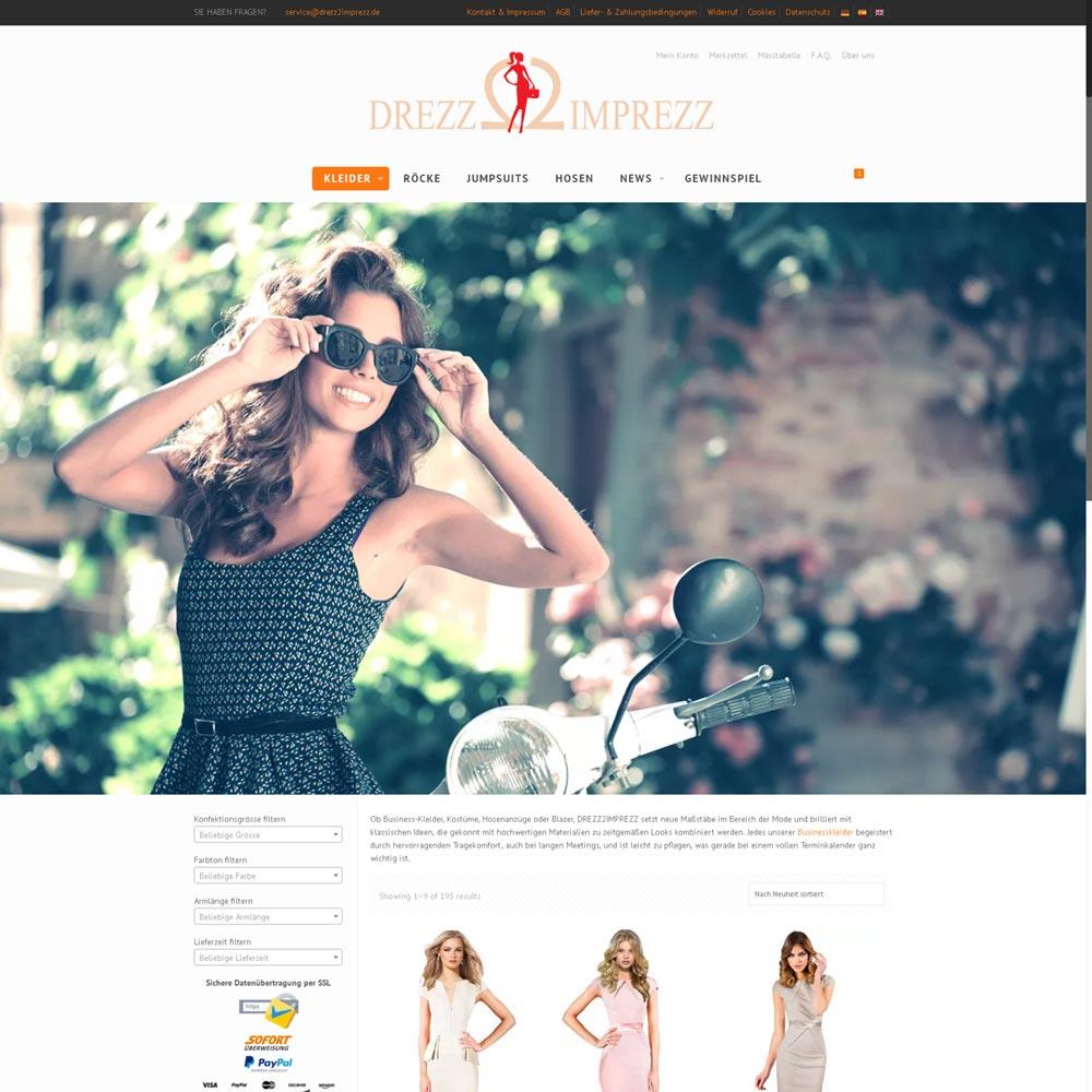 Drezz2Imprezz S.L.<br />Entwicklung der CI, Grafik & Layout für Online<br />www.drezz2imprezz.eu
