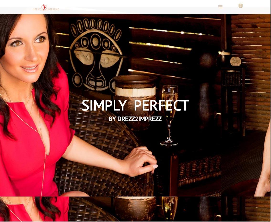 Drezz2Imprezz S.L. Entwicklung der CI, Grafik & Layout für Online www.simply-perfect.eu