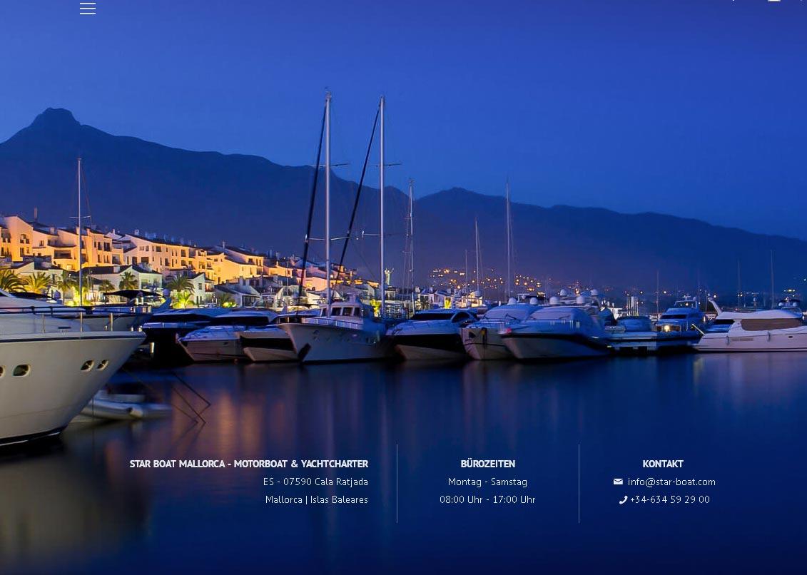 Star Boat Mallorca<br />Entwicklung der CI, Grafik & Layout für Online<br />www.star-boat.com