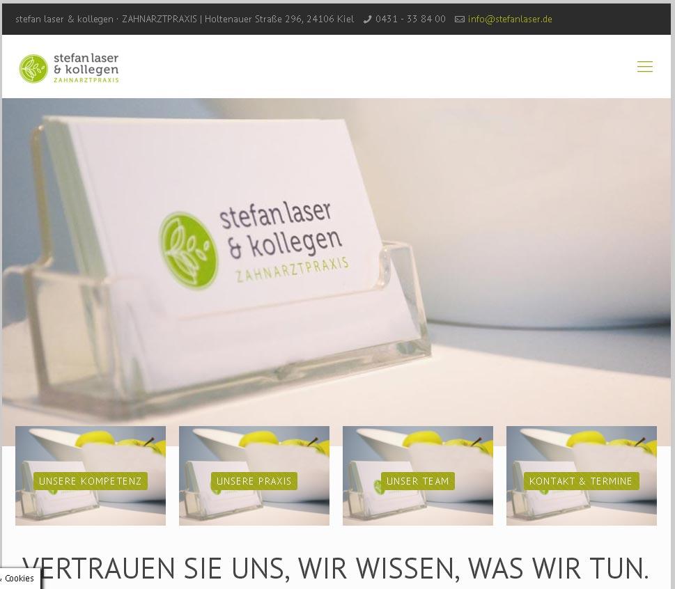 Stefan Laser & Kollegen<br />Entwicklung der CI, Grafik & Layout für Online<br />www.stefanlaser.de