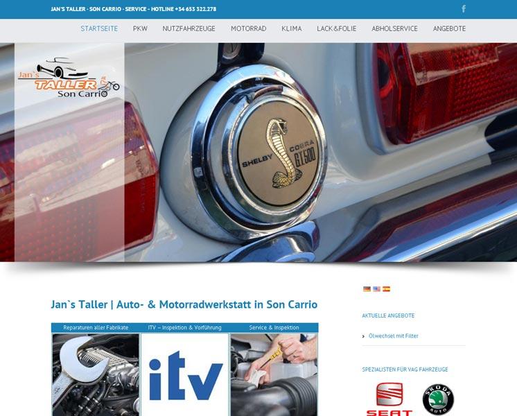 Taller Mallorca<br />Gestaltung / Layout > Website<br />www.taller-mallorca.com