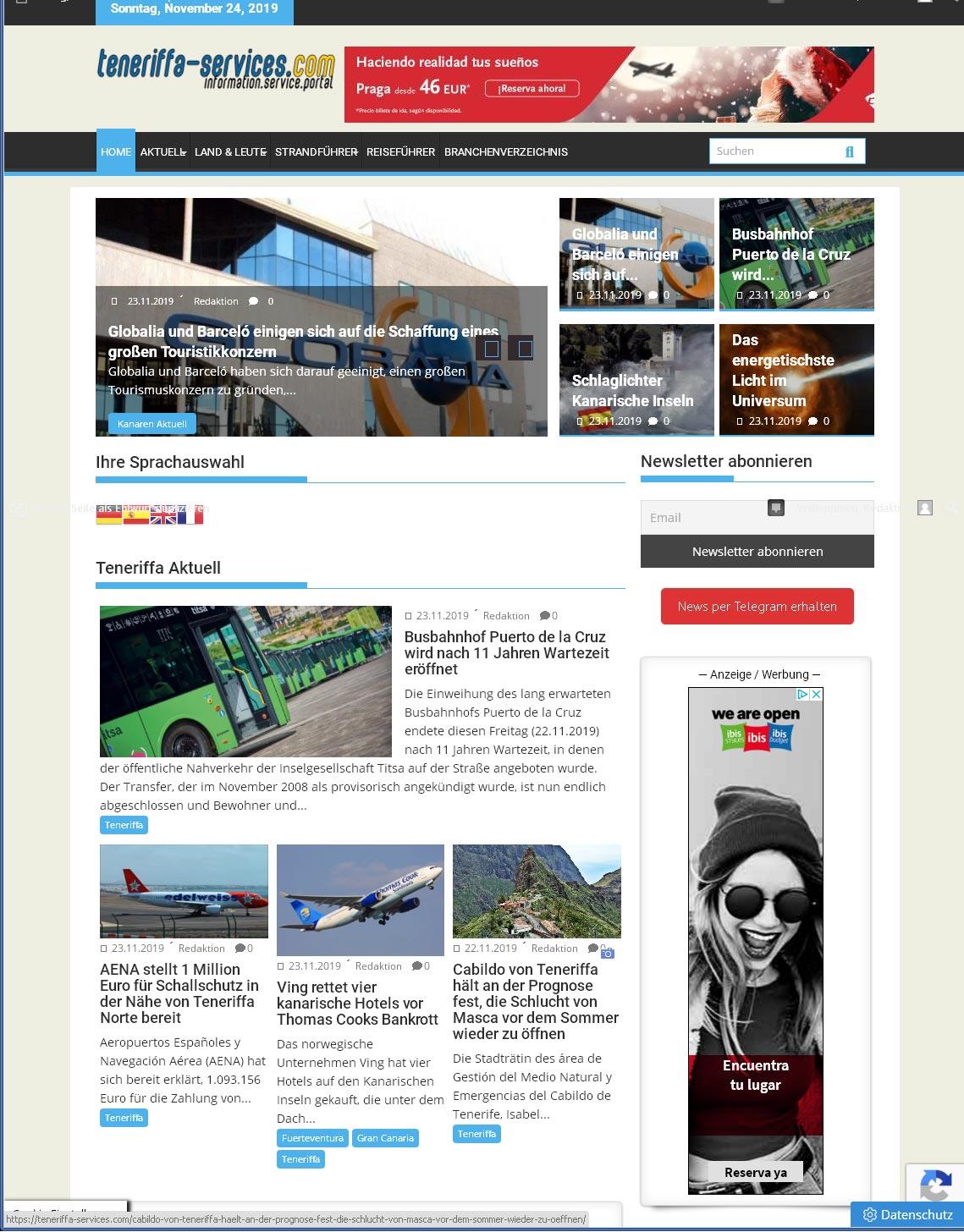 teneriffa-services.com<br />Entwicklung der CI, Grafik & Layout für Online<br />www.teneriffa-services.com